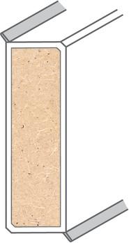 2 x Aussenecke Hellbraun f/ür Kronotex Ktex1 Sockelleiste Randleiste Fu/ßleiste